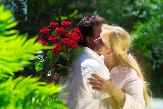 Heiraten in der Therme: Liebespaar
