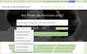 Auf http://hochzeits-fotograf.info nach Fotografen suchen, die After-Wedding-Shootings anbieten.